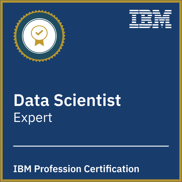 Data Science Profession Certification - Level 2 Expert