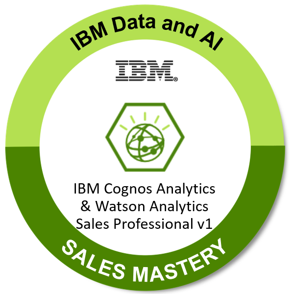 IBM Cognos Analytics & Watson Analytics Sales Professional v1