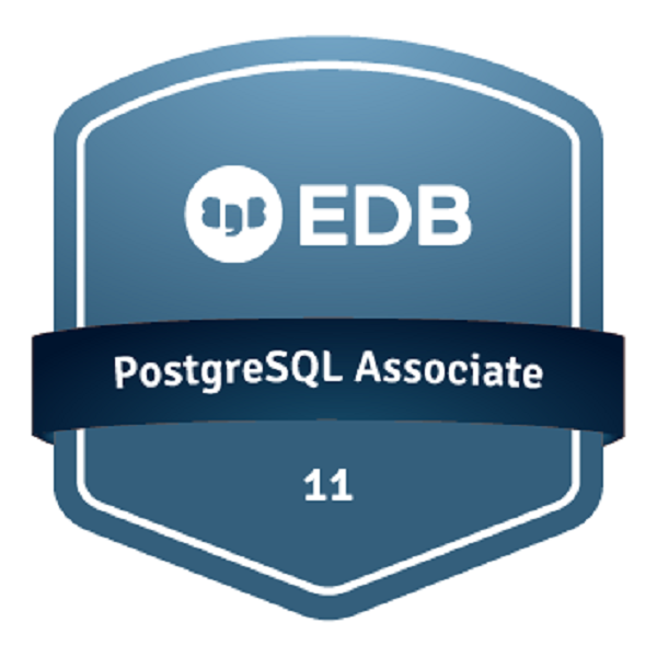 EDB Certified Associate - PostgreSQL 11