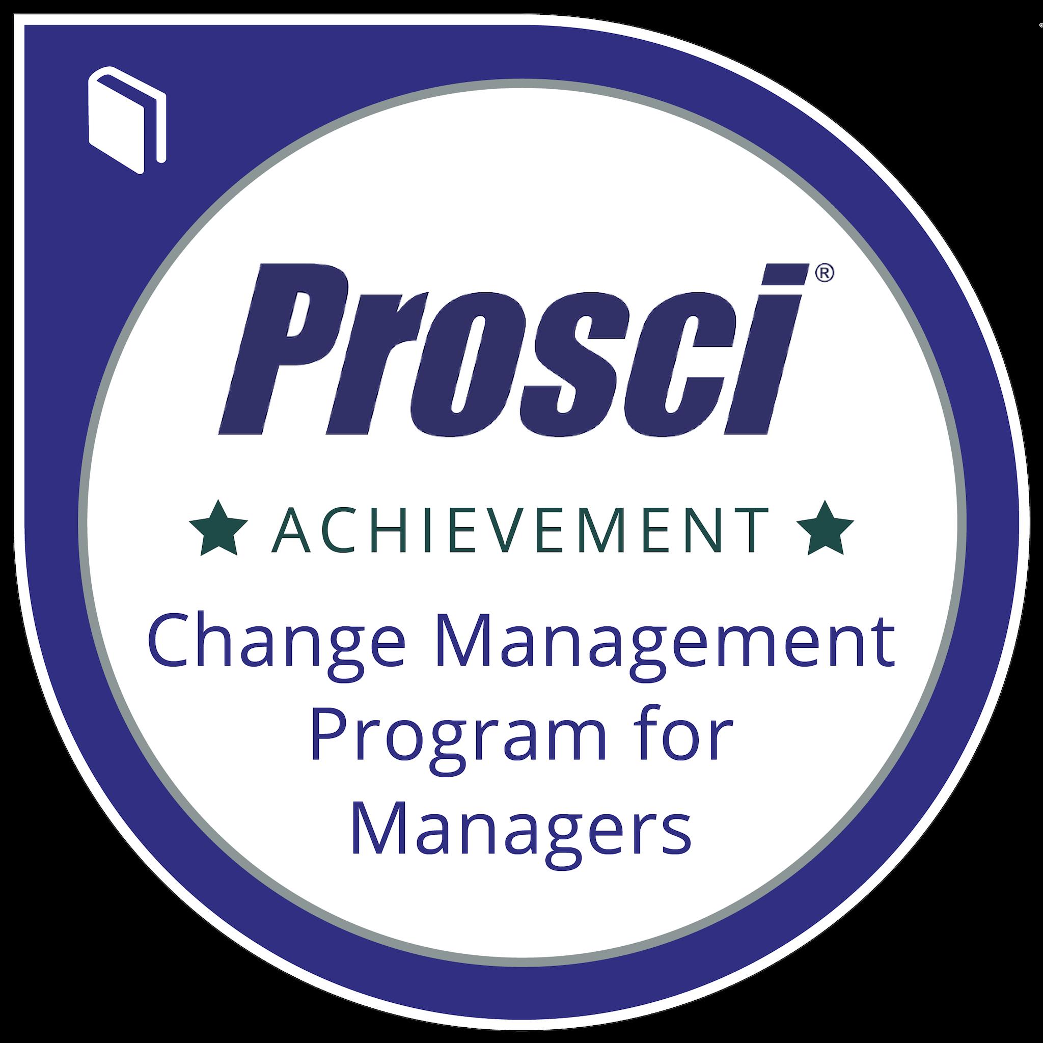 Prosci® Change Management Program for Managers