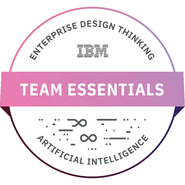 Enterprise Design Thinking - Team Essentials for AI