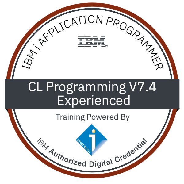 Interskill - IBM i Application Programmer - CL Programming V7.4 -Experienced