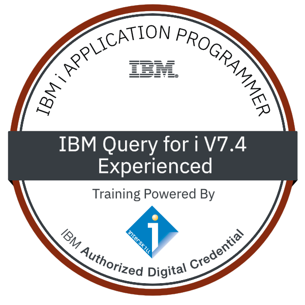 Interskill - IBM i Application Programmer - IBM Query for i V7.4 - Experienced