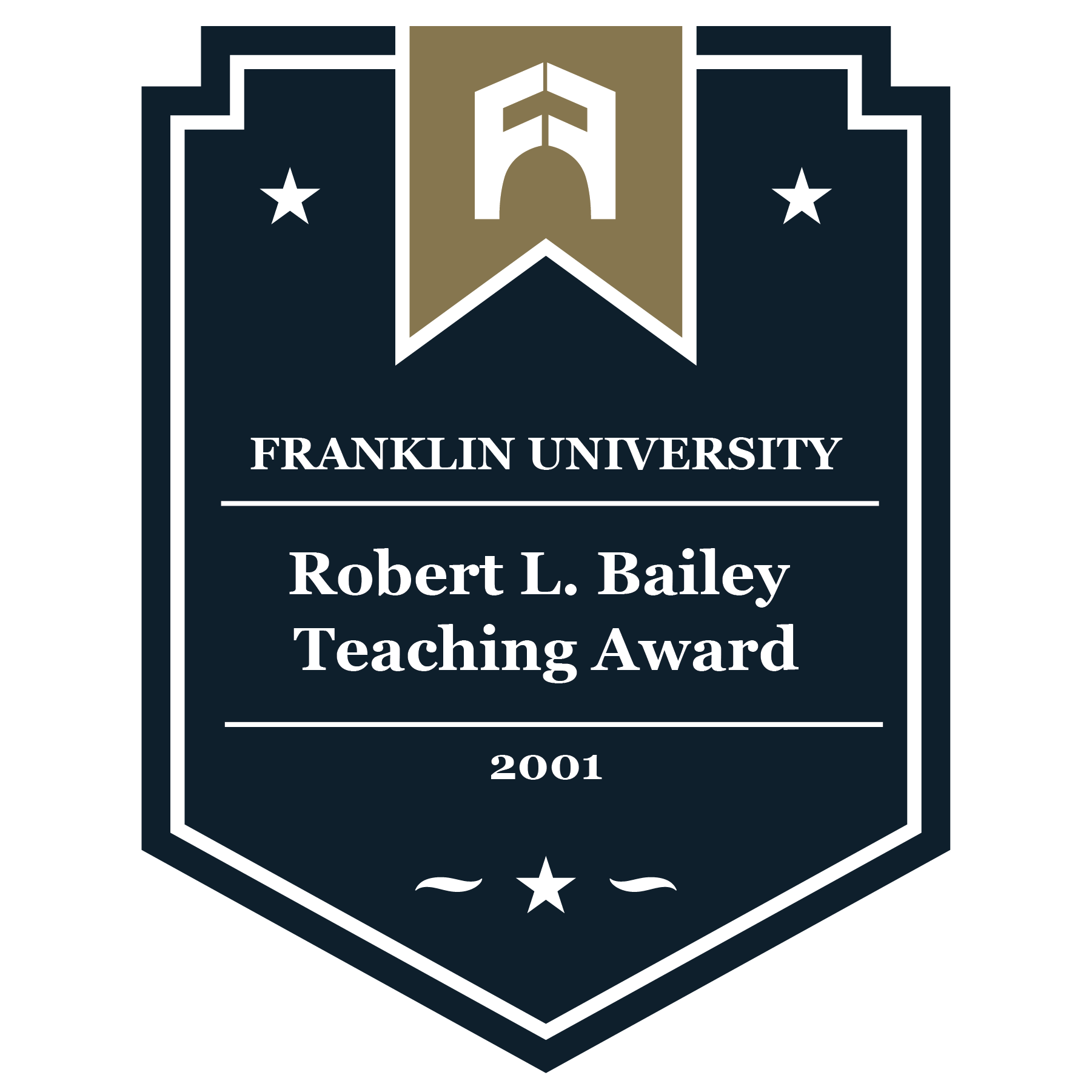 2001 Robert L. Bailey Teaching Award