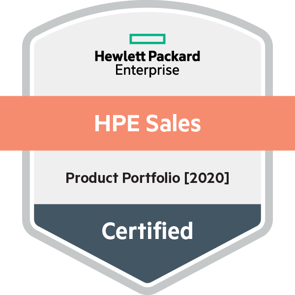 HPE Sales Certified - Product Portfolio [2020]
