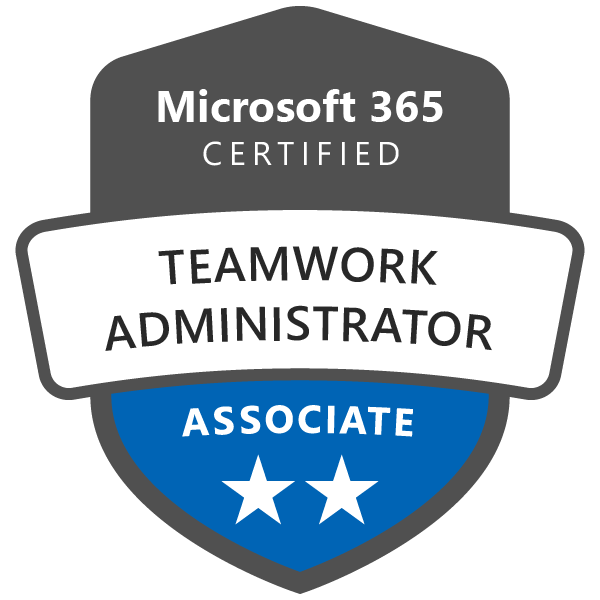 Microsoft 365 Certified: Teamwork Administrator Associate - Acclaim
