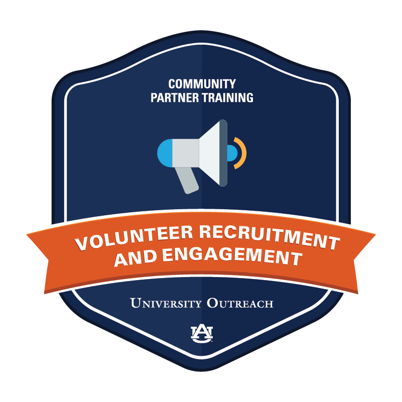Community Partner Training Badge 4: Volunteer Recruitment and Engagement