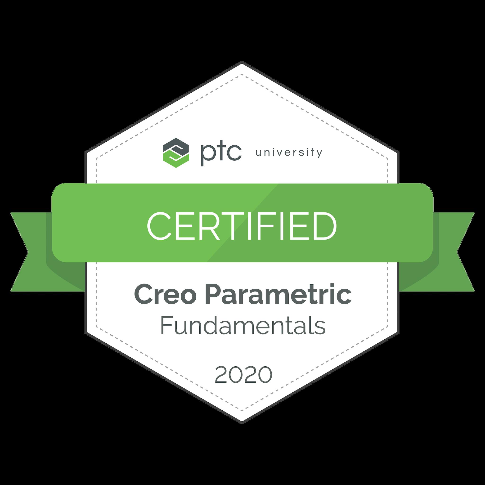 Creo Parametric Fundamentals Certification 2020