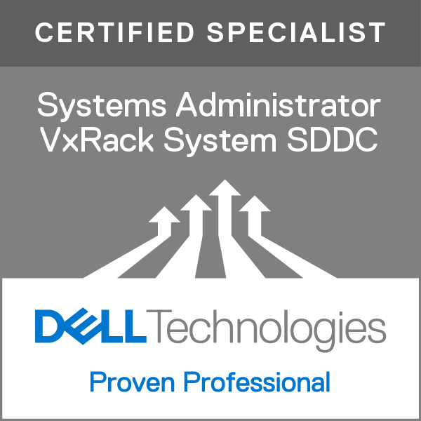 Specialist – Systems Administrator, VxRack System SDDC Version 1.0