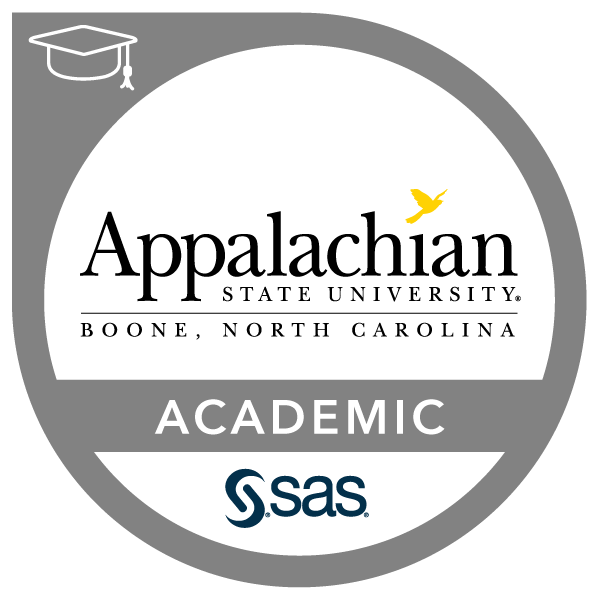 SAS-Appalachian State University Academic Specialization in Business Analytics