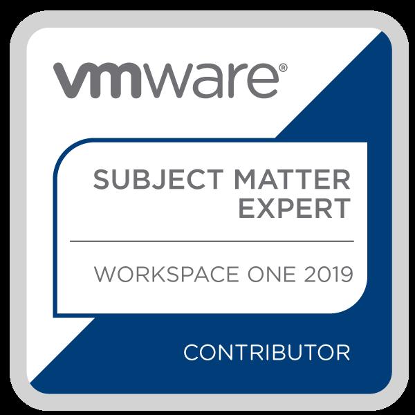 Certification Subject Matter Expert – Workspace ONE 2019