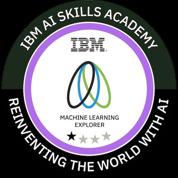 IBM AI Skills Academy Machine Learning Explorer