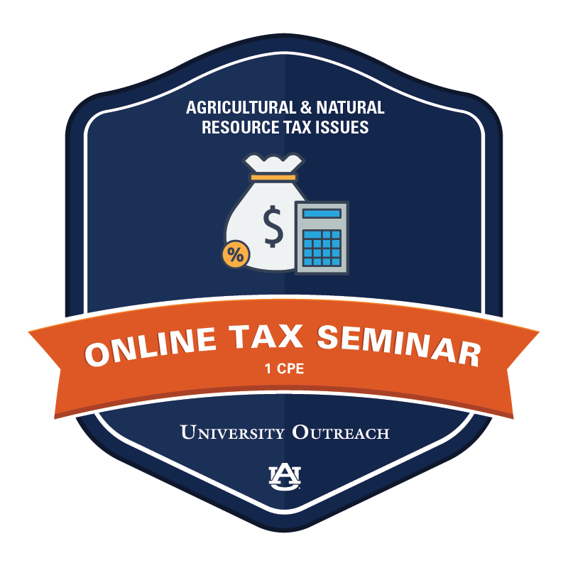 Online Tax Seminar: Agricultural and Natural Resource Tax Issues - 1 CPE