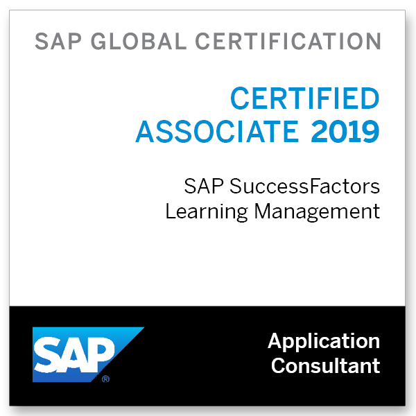 SAP Certified Application Associate - SAP SuccessFactors Learning Management 2019