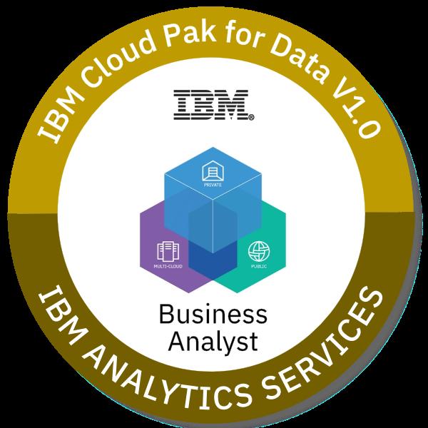 IBM Cloud Pak for Data V1.0 Business Analyst