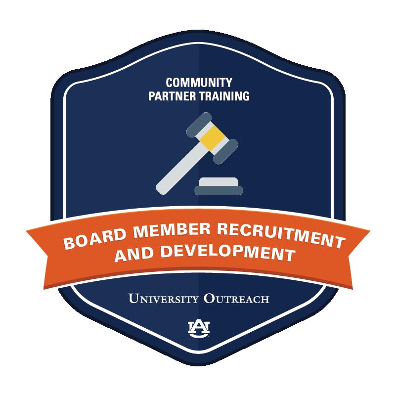 Community Partner Training Badge 7: Board Member Recruitment and Development