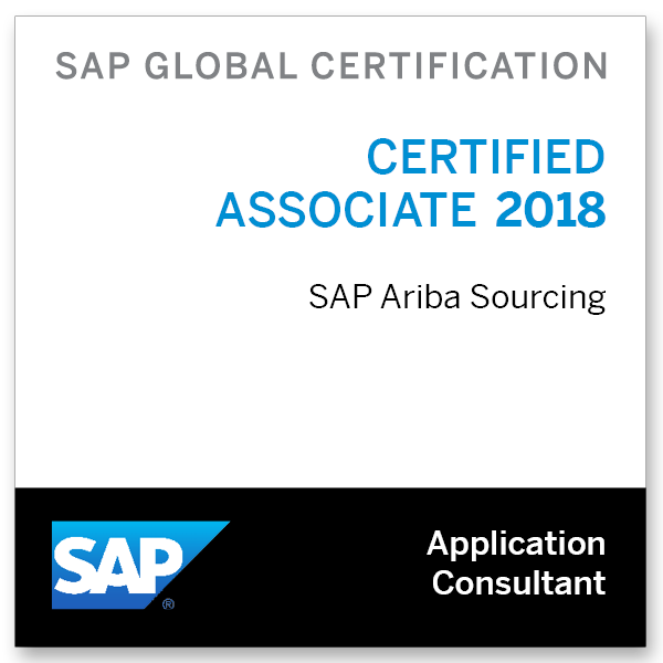 SAP Certified Application Associate - SAP Ariba Sourcing 2018