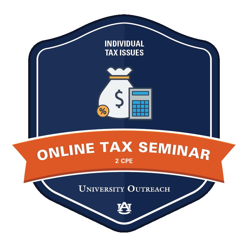 Online Tax Seminar: Individual Tax Issues - 2 CPE