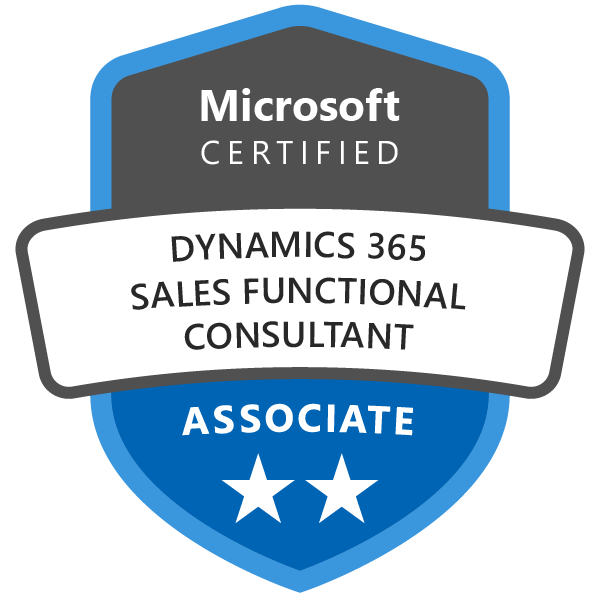 Microsoft Certified: Dynamics 365 for Sales Functional Consultant Associate