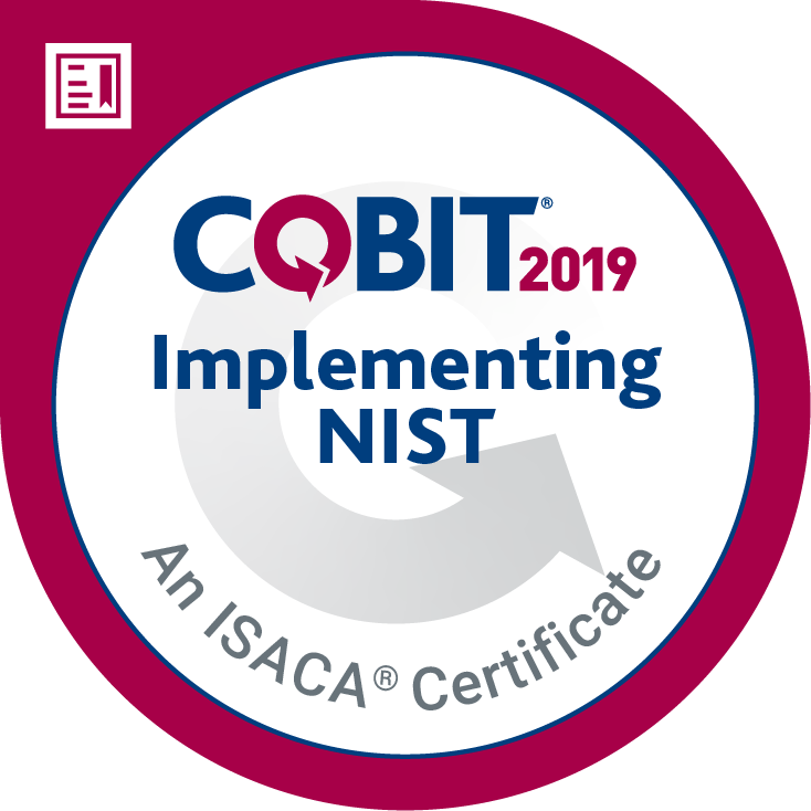 ISACA Implementing the NIST Cybersecurity Framework Using COBIT 2019 Certificate Image