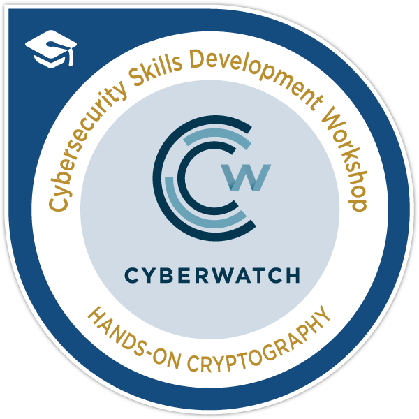 CyberWatch Hands-On Cryptography Workshop Certificate
