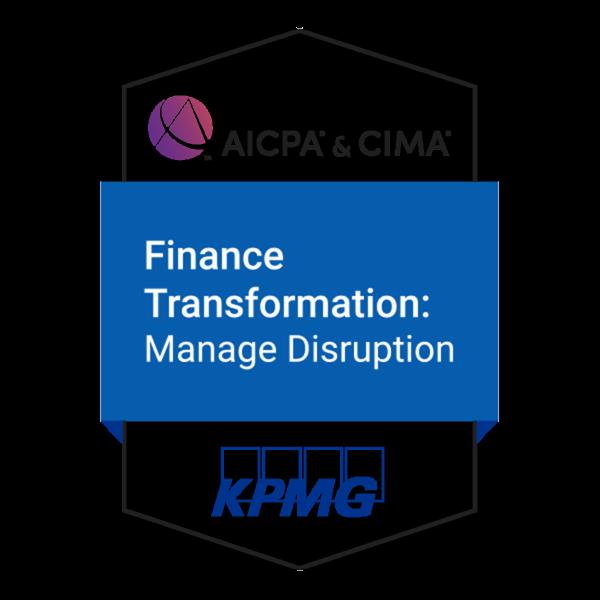 Finance Transformation: Manage Disruption Certificate