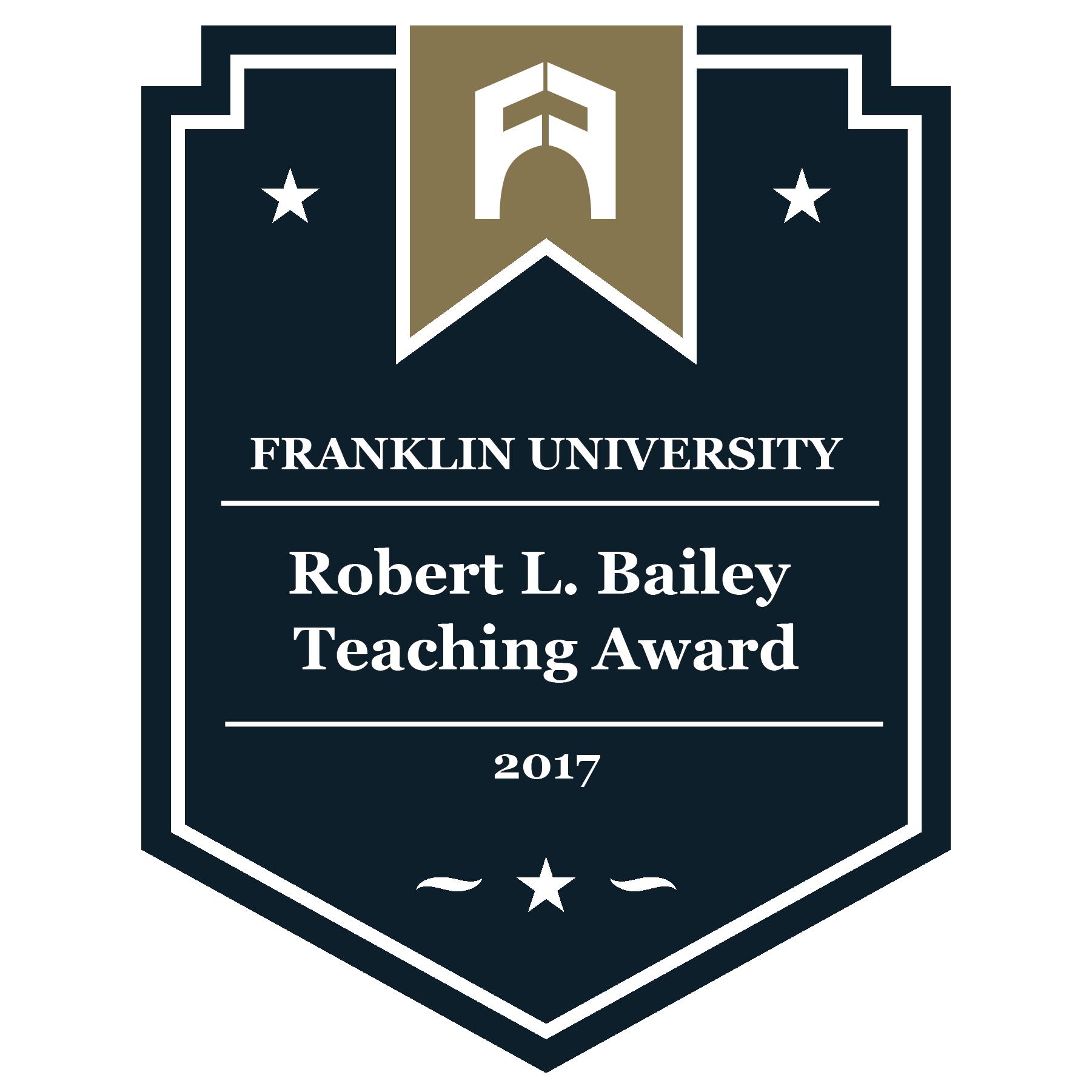 2017 Robert L. Bailey Teaching Award