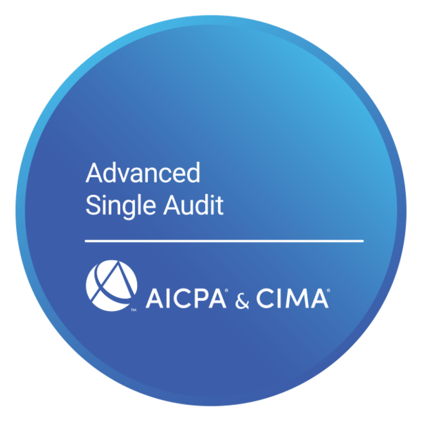 Advanced Single Audit Certificate