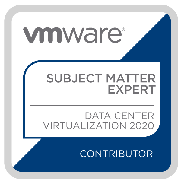 Certification Subject Matter Expert - Data Center Virtualization 2020