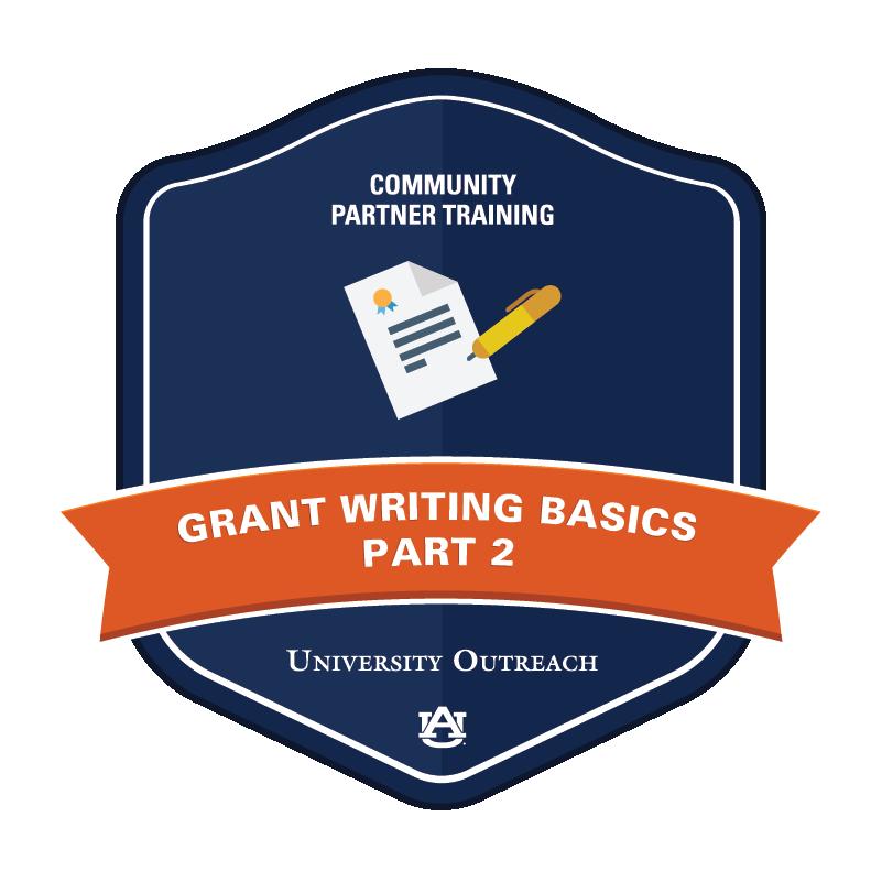 Community Partner Training Badge 6: Grant Writing Basics, Part 2