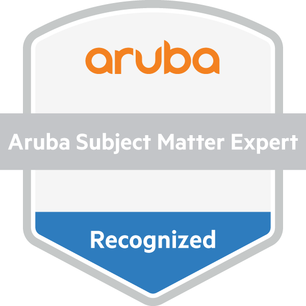 Aruba Recognized Subject Matter Expert