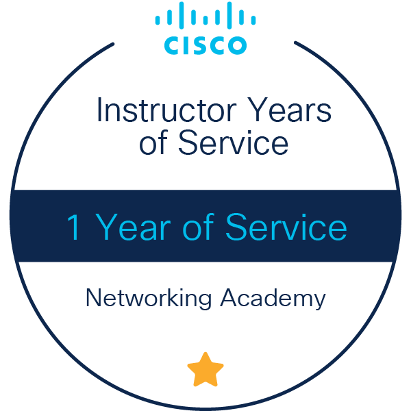Instructor 1 Year of Service