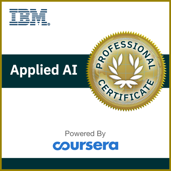 IBM Applied AI Professional Certificate