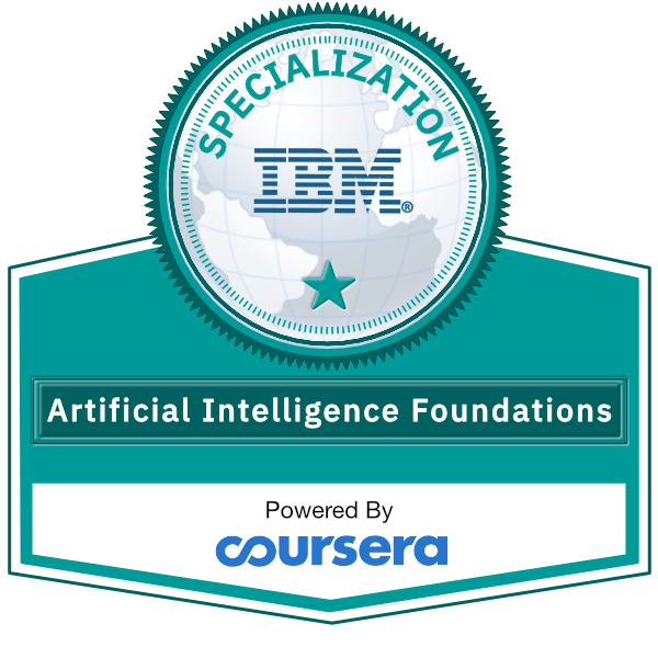 Artificial Intelligence Foundations Specialization