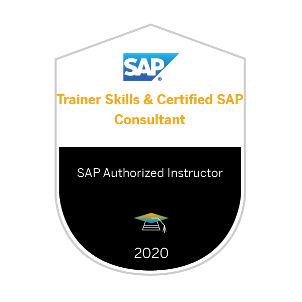 Trainer Skills & Certified SAP Consultant 2020 - SAP Authorized Instructor