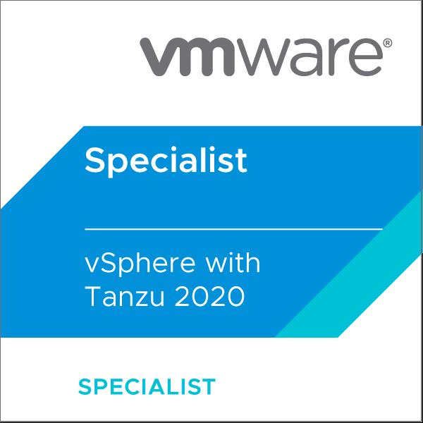 VMware Certified Specialist - vSphere with Tanzu 2020