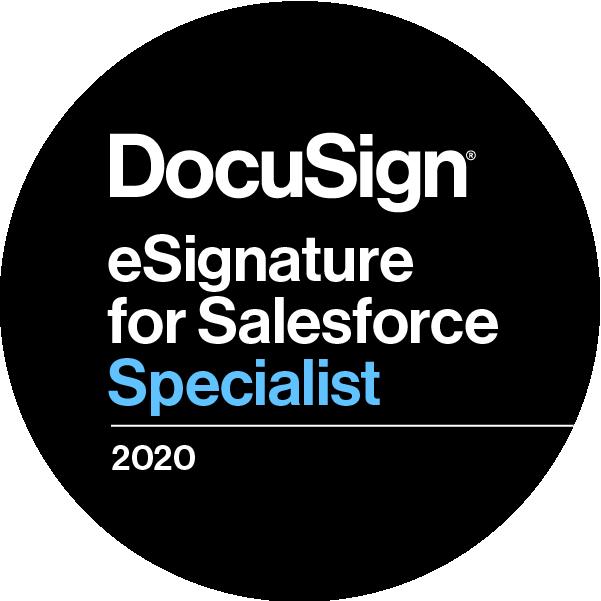 DocuSign eSignature for Salesforce Specialist 2020