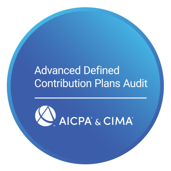 Advanced Defined Contribution Plans Audit Certificate