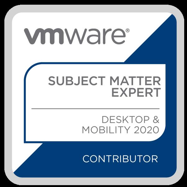 Certification Subject Matter Expert – Desktop and Mobility 2020