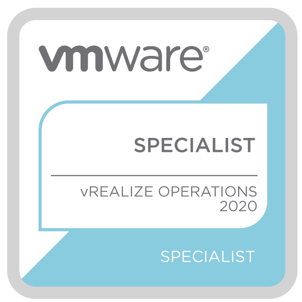 VMware Specialist - vRealize Operations 2020
