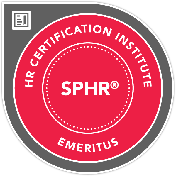 Senior Professional in Human Resources® (SPHR®) Certification - Emeritus