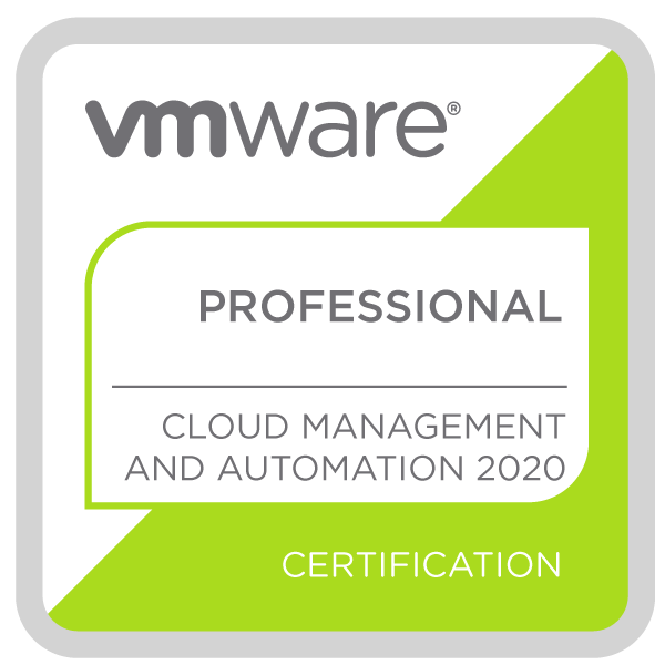 VMware Certified Professional - Cloud Management and Automation 2020