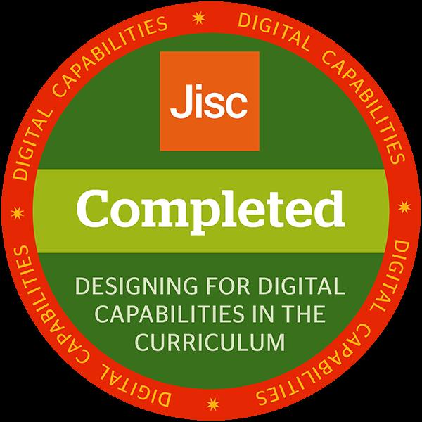 Designing for digital capabilities in the curriculum
