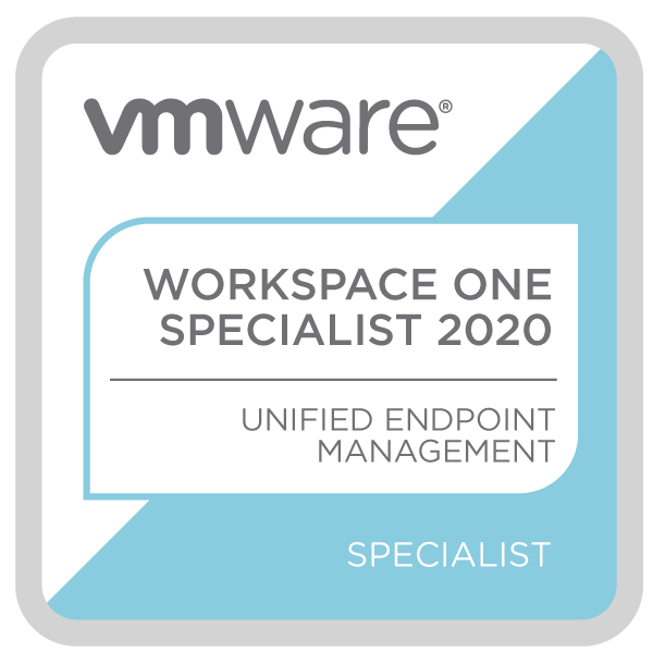 VMware Specialist - Workspace ONE Unified Endpoint Management 2020