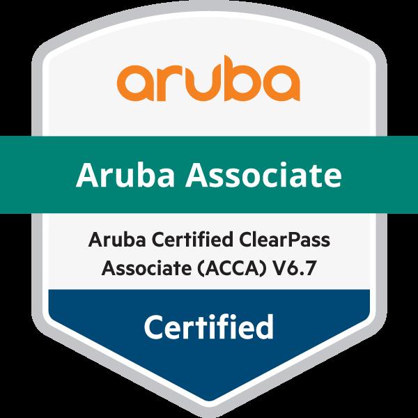 Aruba Certified ClearPass Associate (ACCA) V6.7