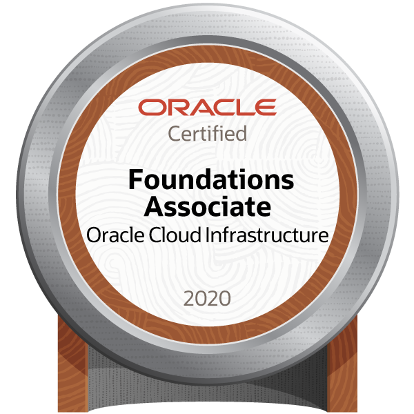 Oracle Cloud Infrastructure Foundations 2020 Certified Associate