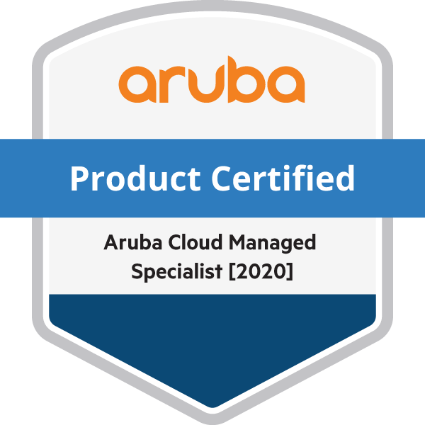 HPE Product Certified - Aruba Cloud Managed Specialist [2020]