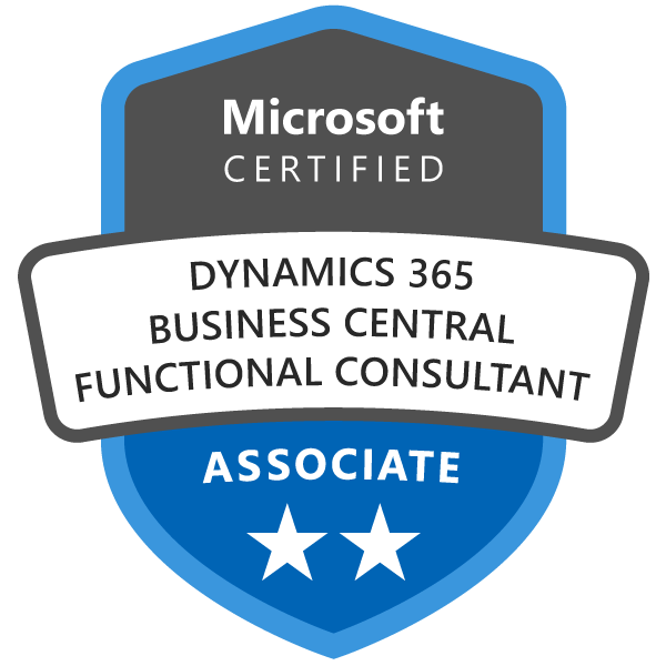 Microsoft Certified: Dynamics 365 Business Central Functional Consultant Associate