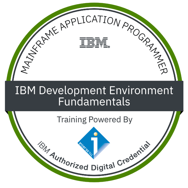 Interskill - Mainframe Application Programmer – IBM Development Environment – Fundamentals