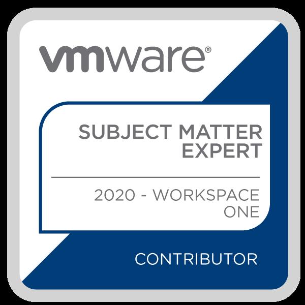 Certification Subject Matter Expert – Workspace ONE 2020